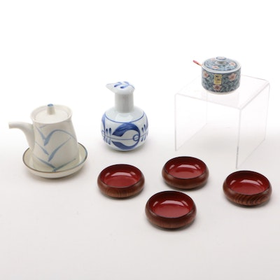 Japanese Dipping Sauce Bowls, Soy Sauce Dispensers, and Other Serveware