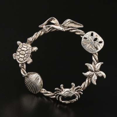Sterling Silver Sea Life Brooch