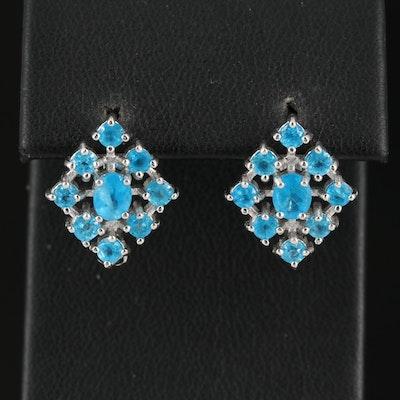 Sterling Silver Apatite Earrings