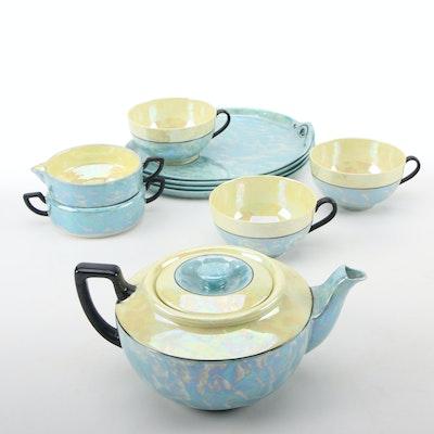 Phoenix China Lusterware Tea and Snack Set, Mid-20th Century
