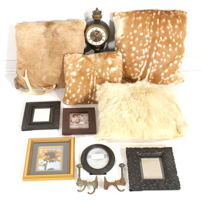 Deer, Fawn and Elk Hide Throw Pillows, Frames, and Other Home Decor