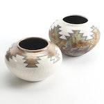 Signed Artisan-Made Southwestern Ceramic Vases