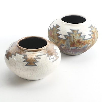 Signed Artisan-Made Southwestern Ceramic Vases