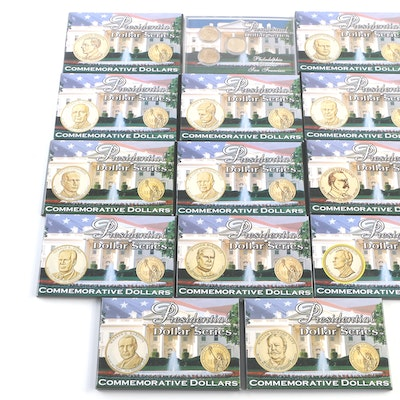 Fourteen Uncirculated Commemorative Presidential Dollar Sets