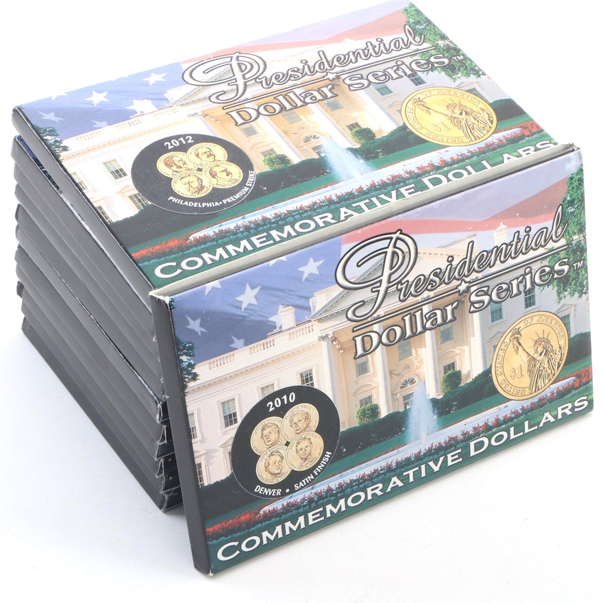 Presidential Satin Finish and Premium Strike Coin Sets