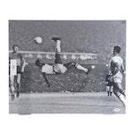 "Pelé Signed ""Bicycle Kick"" Soccer Photo Print, PSA/DNA COA"