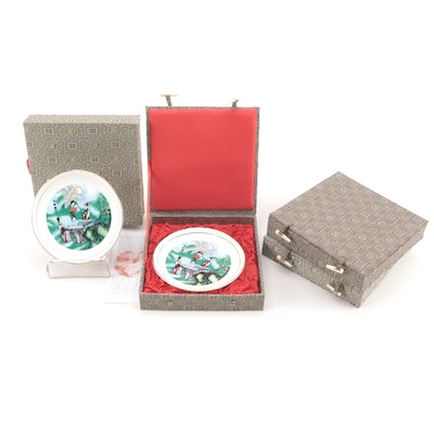 Commemorative Porcelain Chinese Tea Dishes with Presentation Boxes