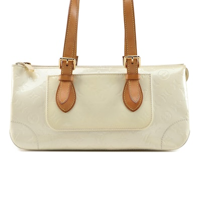 Louis Vuitton Rosewood in Perle Monogram Vernis and Vachetta Leather