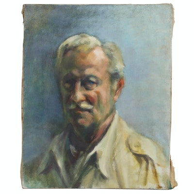 Jacques Zuccaire Self Portrait Oil Painting, 20th Century