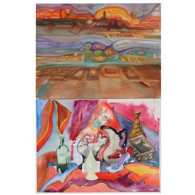 Phiris Kathryn Sickels Watercolor Paintings