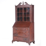 Federal Mahogany Secretary Bookcase, First Quarter 19th Century