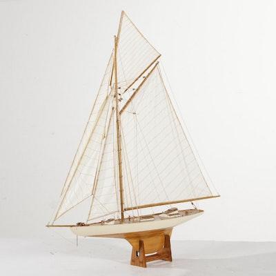 Wood and Cloth Model Sailboat