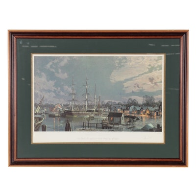 "John Stobart Offset Lithograph ""Mystic Seaport"""