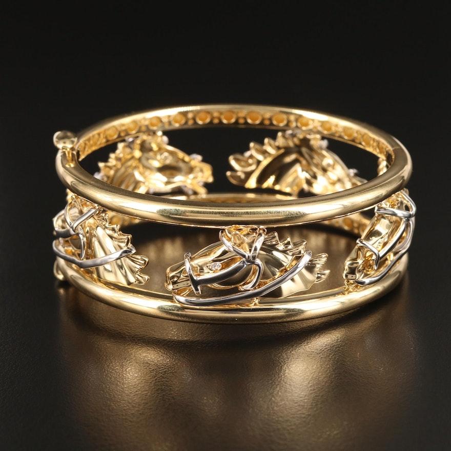 Roberto Coin 18K Diamond Horse Bracelet with Box