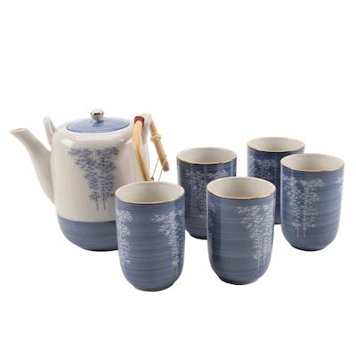 Japanese Hand-Painted Porcelain Tea Set