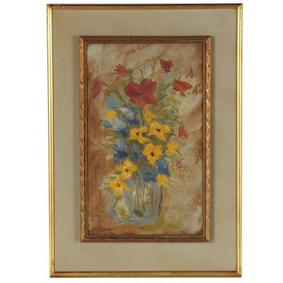 Michel Georges-Michel Floral Still Life Oil Painting, circa 1940