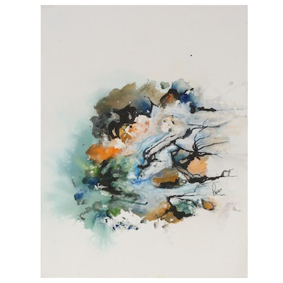 Phiris Kathryn Sickels Abstract Watercolor Painting