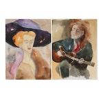 Phiris Kathryn Sickels Portrait Watercolor Paintings