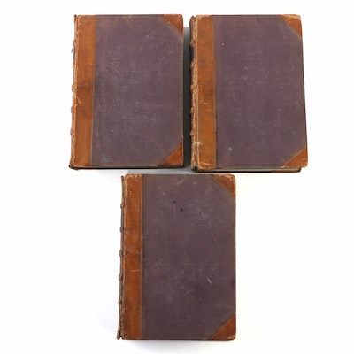"First Edition ""Scottish Nation and Biographical History"" Three-Volume Set, 1863"