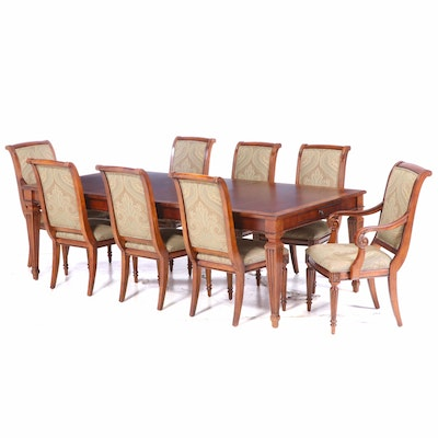 """Ethan Allen """"Goodwin"""" Dining Table and Eight """"Adison"""" Chairs"""