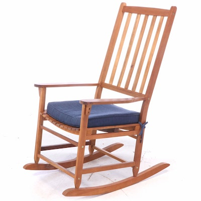 Allen + Roth Hardwood Patio Rocking Armchair