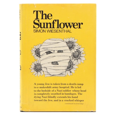 "Signed First Edition ""The Sunflower"" by Simon Wiesenthal, 1976"
