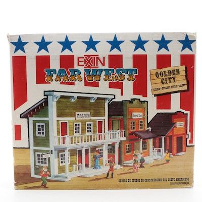 "Exin ""Far West Golden City"" Play Set in Original Packaging, Made in Spain, 1970s"