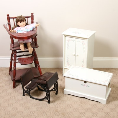 American Girl Samantha Parkington Doll, Desk and Accessories with Other Items