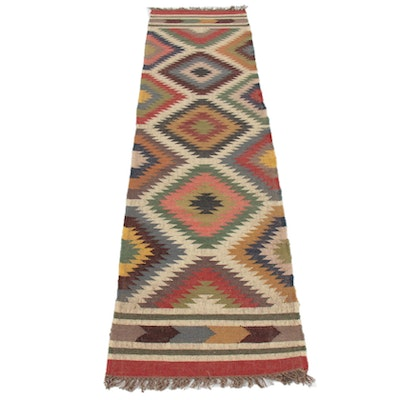 2'6 x 10'3 Handwoven Turkish Kilim Runner Rug
