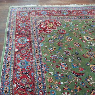 10' 1 x 13' 6 Hand-Knotted Persian Wool Area Rug