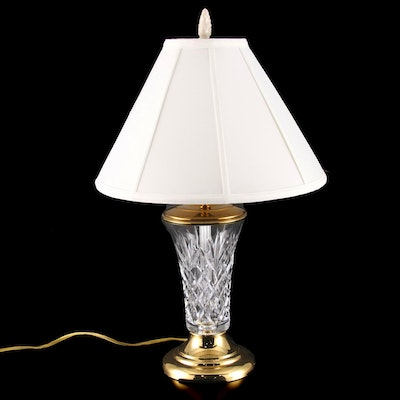 Waterford Crystal Table Lamp with Shade