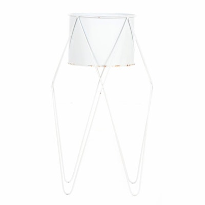 Metal Plant Stand with Hairpin Legs, Mid 20th Century