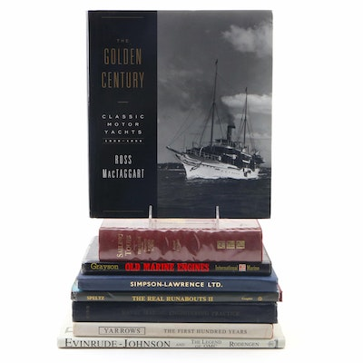 """First Printing """"The Golden Century"""" with Other Marine Books Including Signed"""