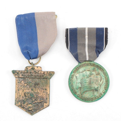 "Civil War Re-Enactment/Pillgrimage Medals, Battles of ""Manassas and Perryville"""