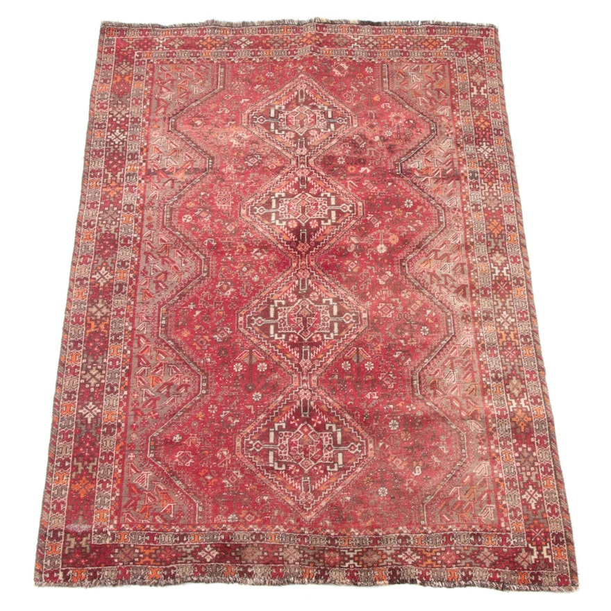 5'9 x 8'7 Hand-Knotted Persian Wool Rug