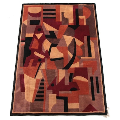 "5'2 x 8'0 Hand-Tufted Chinese Momeni ""New Wave"" Wool Rug"