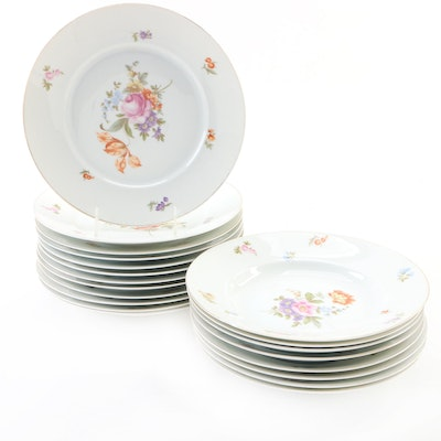 Rosenthal-Continental Floral Porcelain Dinnerware, Mid-20th Century