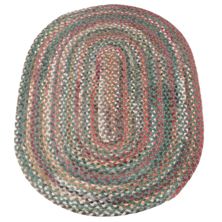 5'2 x 7'10 Handmade Braided Wool Area Rug