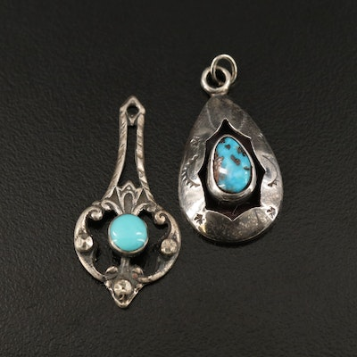 Western Sterling Silver Pendants Including Turquoise