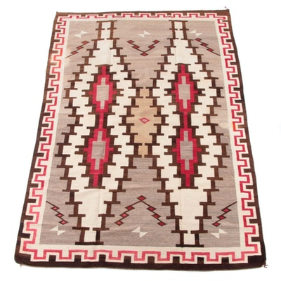 6'1 x 9'1 Handwoven Southwestern Style Wool Rug