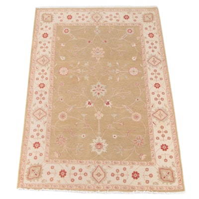 5'5 x 8'5 Hand-Knotted Indian Mahal Wool Rug