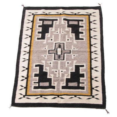 4'6 x 6'1 Handwoven Southwest Style Wool Rug