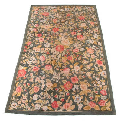 8'8 x 11'2 Hand-Hooked Floral Wool Rug