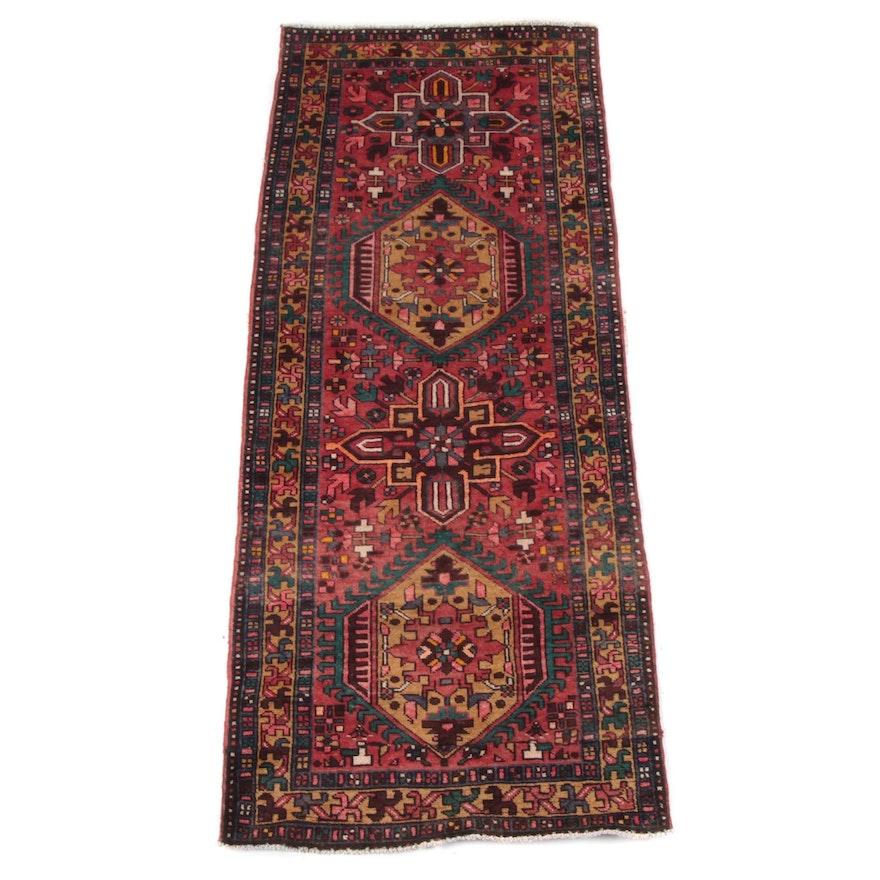 3'4 x 8'11 Hand-Knotted Caucasian Kazak Carpet Runner