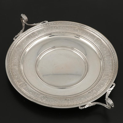 "International Silver ""Wedgwood"" Sterling Silver Sandwich Plate with Handles"
