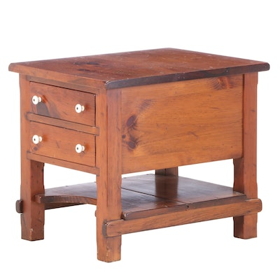 Deming Craftsmen of Connecticut Pine Two-Drawer Side Table, Mid-20th Century
