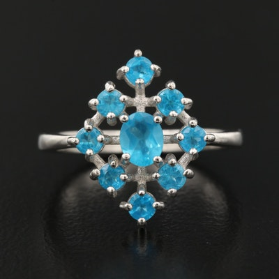 Sterling Silver Apatite Ring