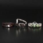 "Uno de 50 800 Silver ""Bite""  and Other Bracelet Assortments"
