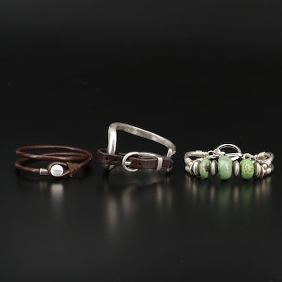 "Uno de 50 800 Silver ""Bite""  and Other Bracelet Assortments"