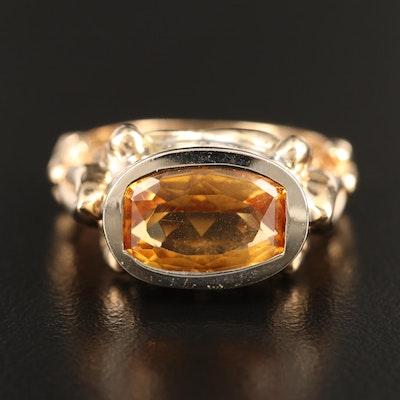 14K Bezel Set Solitaire Ring